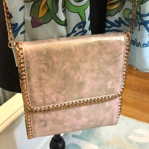 Pink and Gold Foil Crossbody Bag